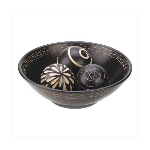 Artisan Deco Bowl And Balls (pack of 1 SET)