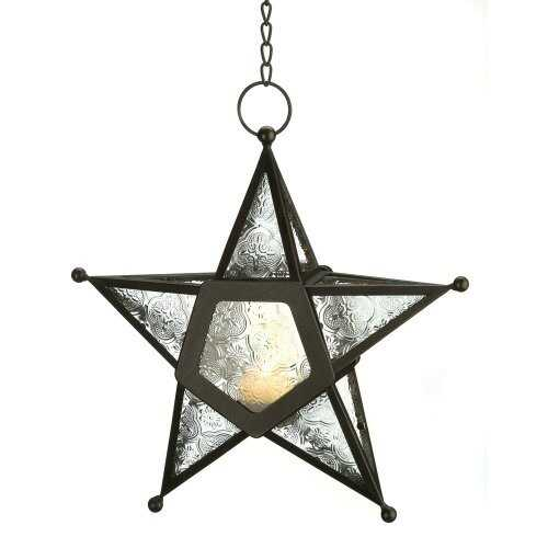 Clear Glass Star Lantern (pack of 1 EA)