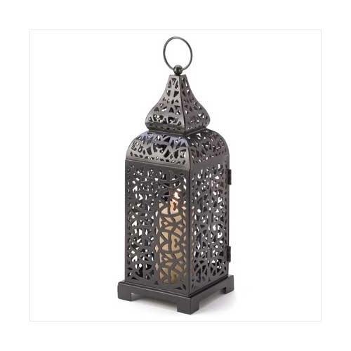 Moroccan Tower Candle Lantern (pack of 1 EA)