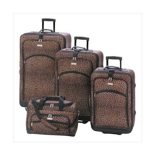 Leopard Print Luggage Ensemble (pack of 1 SET)