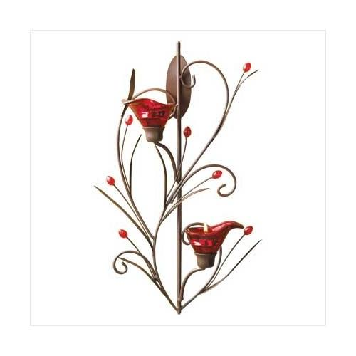 Ruby Blossom Tealight Sconce (pack of 1 EA)
