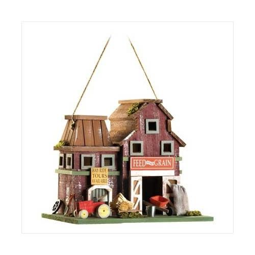 Farmstead Wood Barnyard Birdhouse (pack of 1 EA)