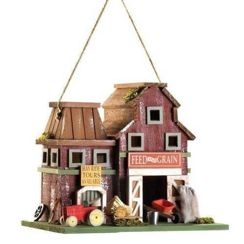 Farmstead Wood Barnyard Birdhouse