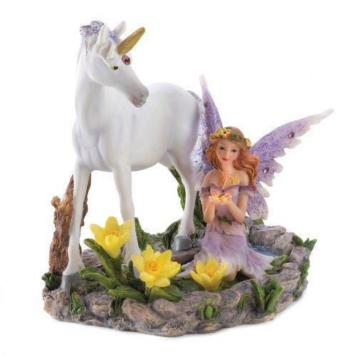 Fairy And Unicorn Statue (pack of 1 EA)