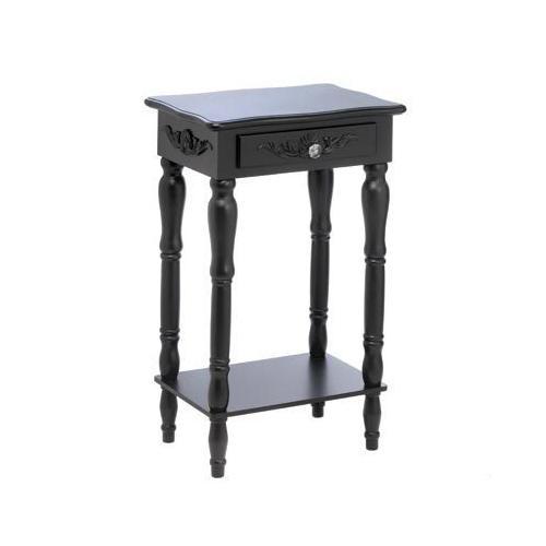 Carved Black Side Table (pack of 1 EA)