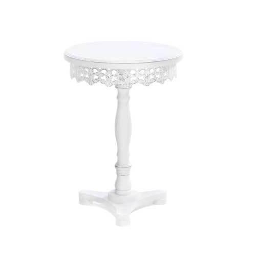 White Shabby Elegance Pedestal Table (pack of 1 EA)