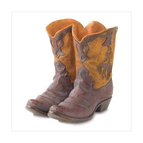 Cowboy Boots Garden Planter Pot (pack of 1 EA)