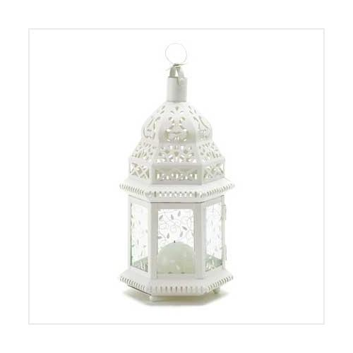 White Moroccan Lantern (pack of 1 EA)