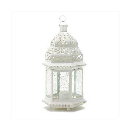 Large White Moroccan Lantern (pack of 1 EA)