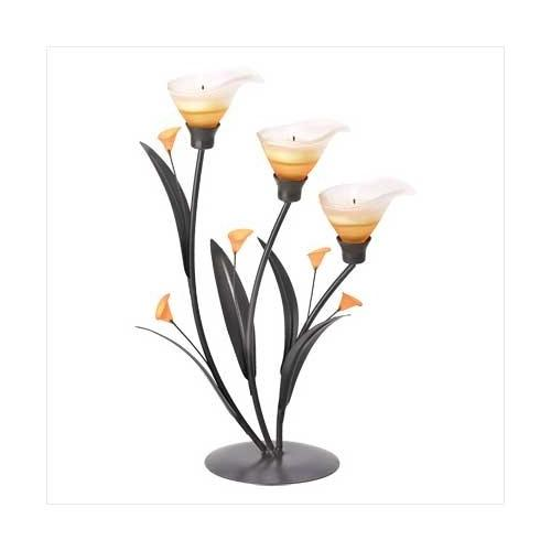 Amber Lilies Tealight Holder (pack of 1 EA)