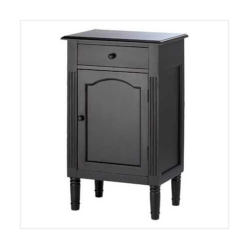 Antique Black Wood Cabinet (pack of 1 EA)