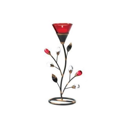 Ruby Blossom Tealight Holder (pack of 1 EA)