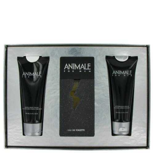 Animale By Animale Gift Set 3.3 Oz Eau De Toilette Spray + 3.4 Oz After Shave Balm + 3.4 Oz Body Wash (pack of 1 Ea)