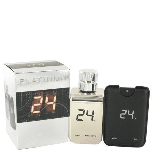 24 Platinum The Fragrance By Scentstory Eau De Toilette Spray + 0.8 Oz Mini Pocket Spray 3.4 Oz (pack of 1 Ea)