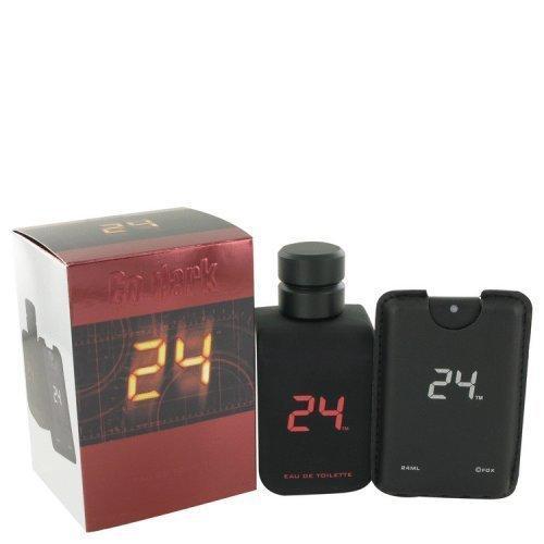 24 Go Dark The Fragrance By Scentstory Eau De Toilette Spray + .8 Oz Mini Pocket Spray 3.4 Oz (pack of 1 Ea)
