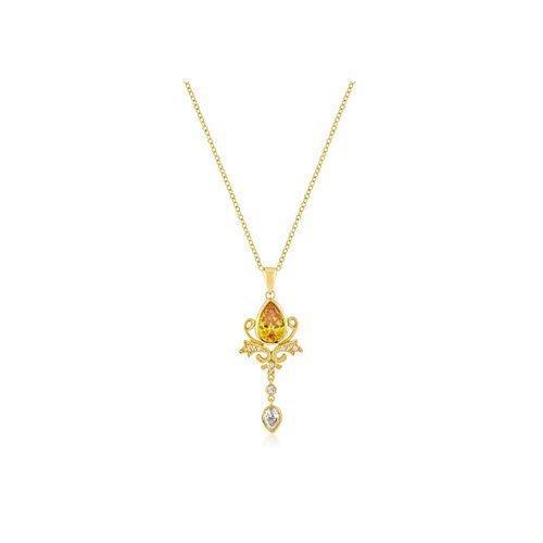 Golden Elegant Teardrop Crest Pendant (pack of 1 ea)