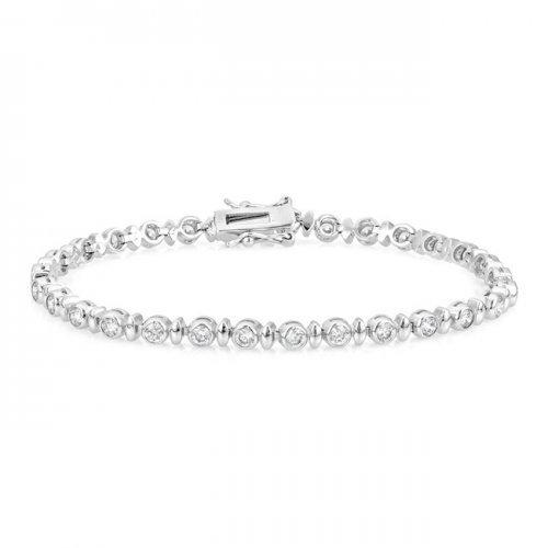 Alternating Bezel Cubic Zirconia Bracelet (pack of 1 ea)