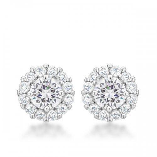 Bella Bridal Earrings In Clear (pack of 1 ea)