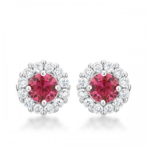 Bella Bridal Earrings In Pink (pack of 1 ea)