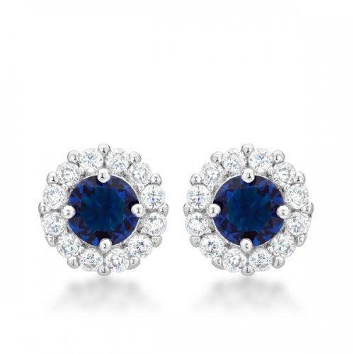 Bella Bridal Earrings In Blue (pack of 1 ea)
