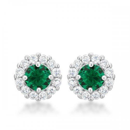 Bella Bridal Earrings In Green (pack of 1 ea)