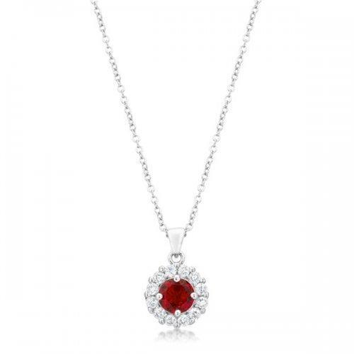 Bella Bridal Pendant In Ruby Red (pack of 1 ea)