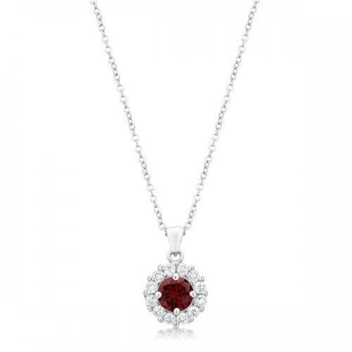 Bella Bridal Pendant In Garnet Red (pack of 1 ea)