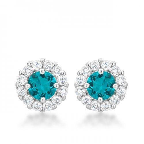 Bella Bridal Earrings In Aqua (pack of 1 ea)