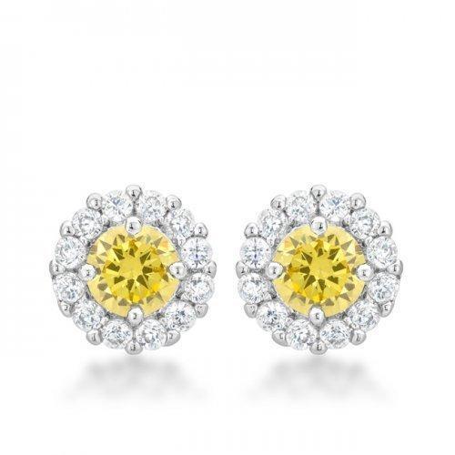 Bella Bridal Earrings In Yellow (pack of 1 ea)