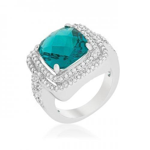 Candy Aqua Cocktail Ring (size: 07) (pack of 1 ea)