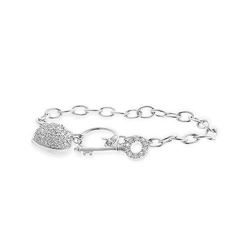 Heart And Key Bracelet (pack of 1 EA)
