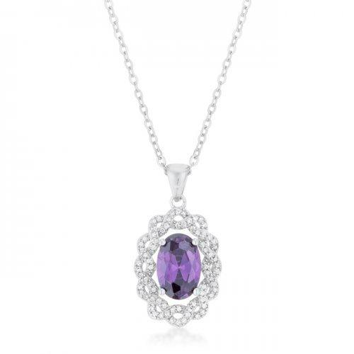 Amethyst Oval Drop Necklace (pack of 1 ea)