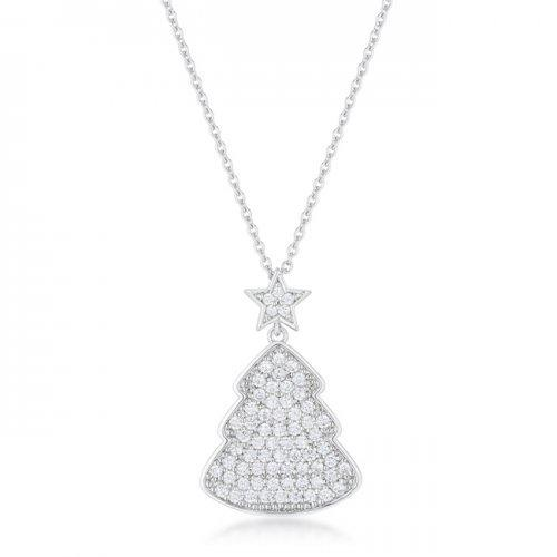Clear Christmas Tree Drop Necklace (pack of 1 ea)