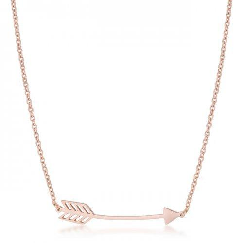 Arianna Rose Gold Stainless Steel Arrow Necklace (pack of 1 ea)