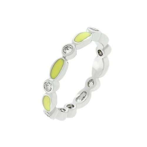 Yellow Link Enamel Stacker Ring (size: 08) (pack of 1 EA)