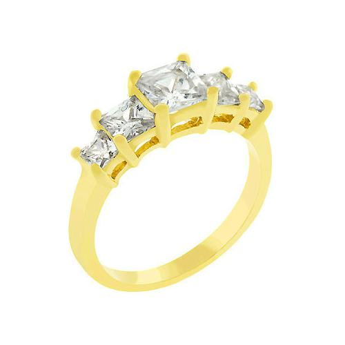 5 Stone Anniversary Ring In Gold (size: 10) (pack of 1 EA)