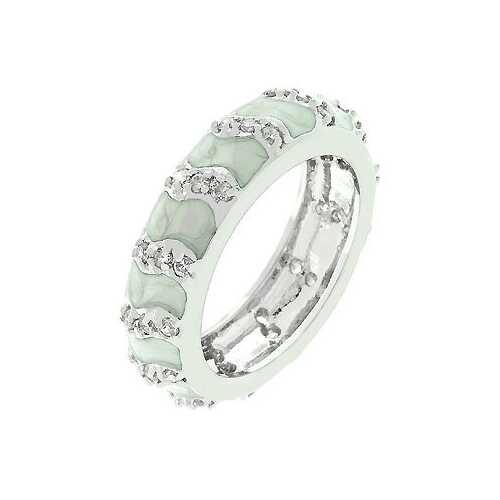Grey Eternity Enamel Ring (size: 09) (pack of 1 EA)