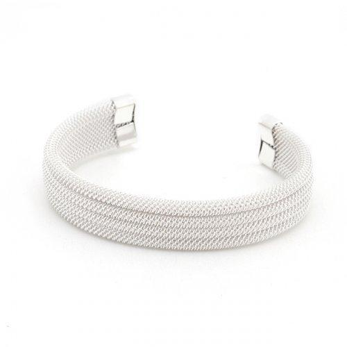 Silver Tone Linear Mesh Cuff (pack of 1 ea)
