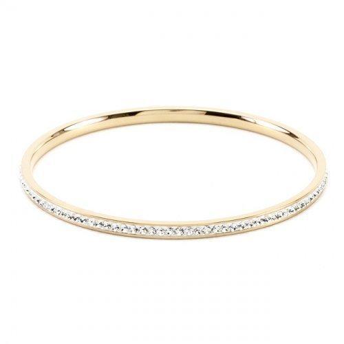 Simple Goldtone Crystal Bangle (pack of 1 ea)