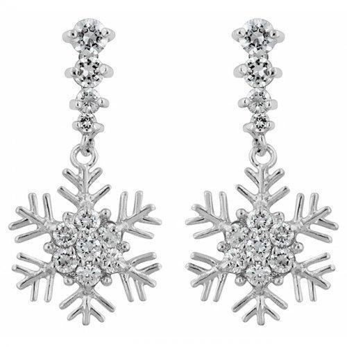 Snowflake Drop Earrings (pack of 1 ea)