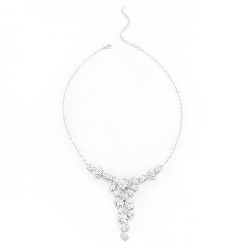 Bejeweled Cz Bib Necklace (pack of 1 ea)