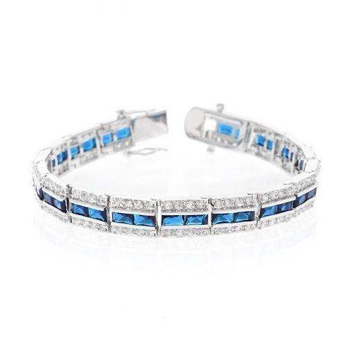 Balboa Blue Cz Bracelet (pack of 1 ea)