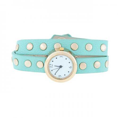 Mint Round Studded Wrap Watch (pack of 1 ea)