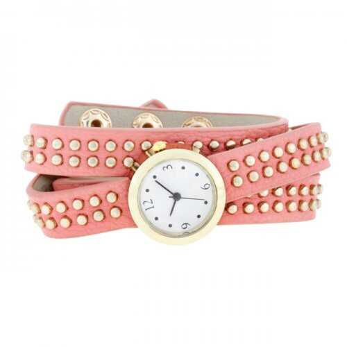Pink Mini Studded Wrap Watch (pack of 1 ea)