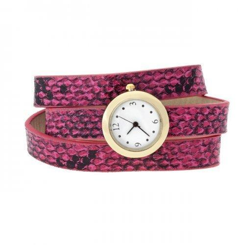 Pink Snakeskin Wrap Watch (pack of 1 ea)