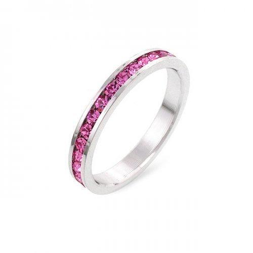 Stylish Stackables Pink Crystal Ring (size: 09) (pack of 1 ea)