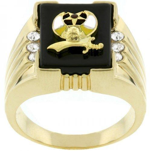 3-stone Shriners Men's Ring (size: 09) (pack of 1 ea)