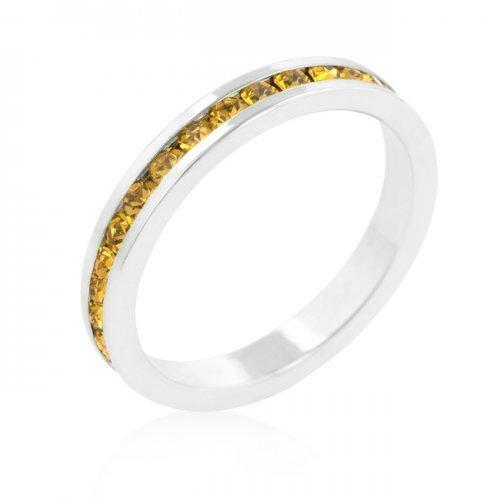 Stylish Stackables With Yellow Crystal Ring (size: 07) (pack of 1 ea)