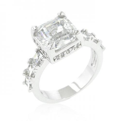 Asscher Cut Engagement Ring (size: 09) (pack of 1 ea)