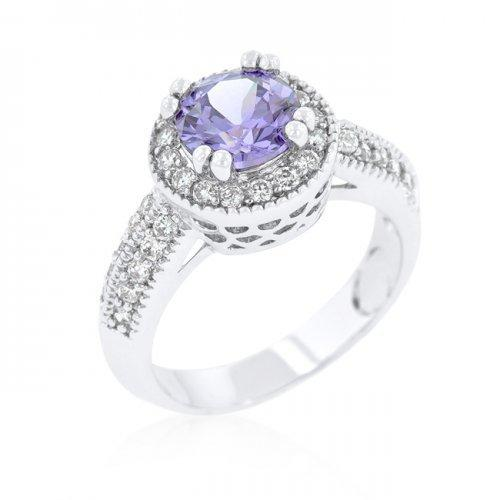 Lavender Halo Engagement Ring (size: 09) (pack of 1 ea)